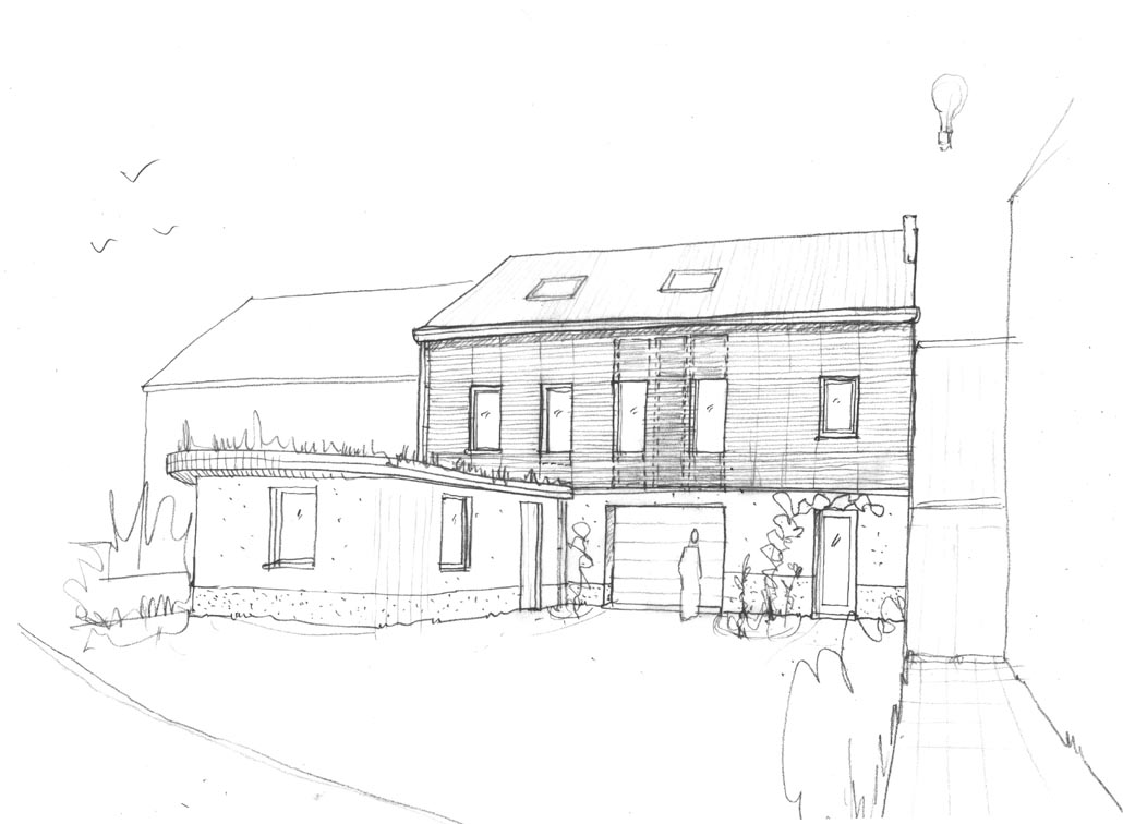 Projets d 39 architecture cologique basse nergie maison for Projet en construction