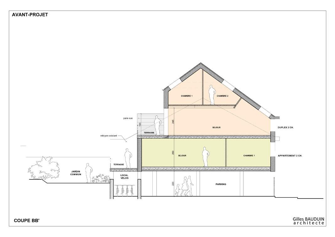 Construire maison mitoyenne stunning projet maison for Modele maison mitoyenne